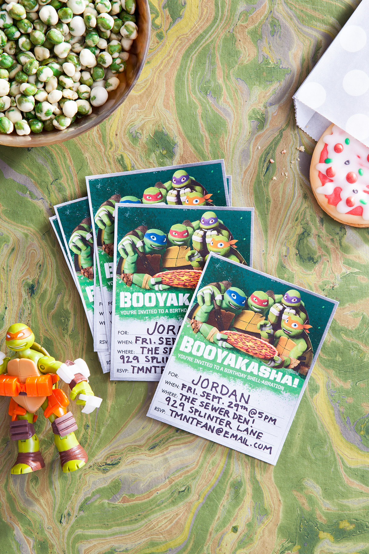 TMNT Booyakasha Party Invitations Nickelodeon Parents