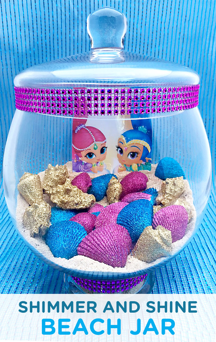 Shimmer and Shine Genie Beach Jar Craft