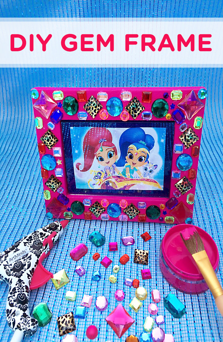 Shimmer and Shine Gem Frame Craft