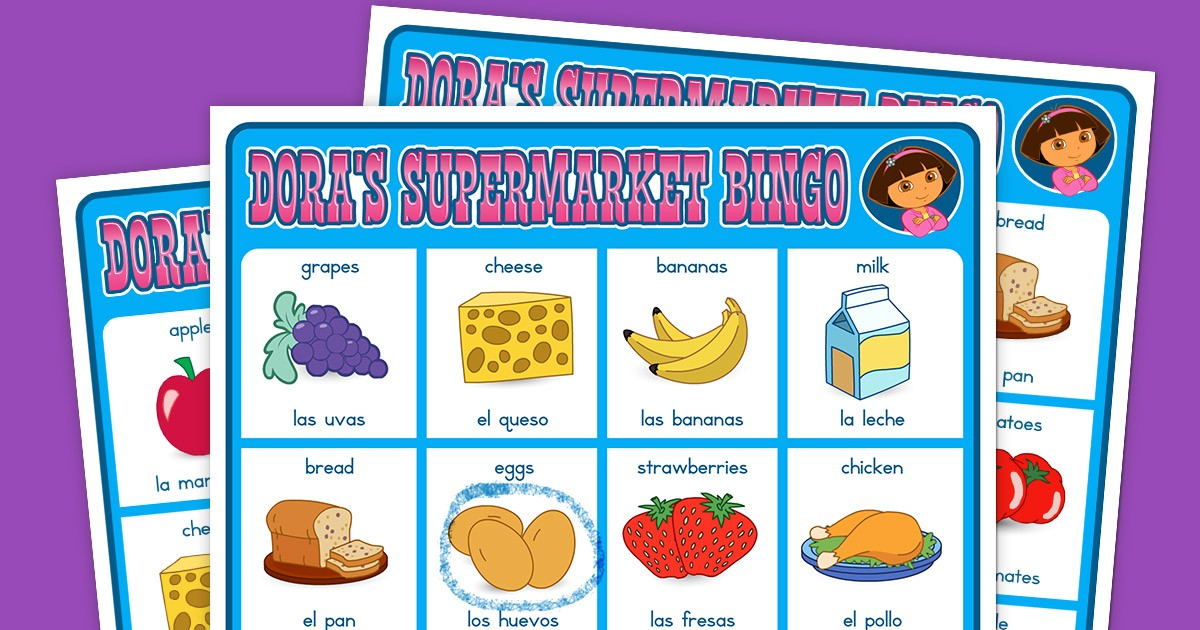 Dora Supermarket Bingo Game Nickelodeon Parents