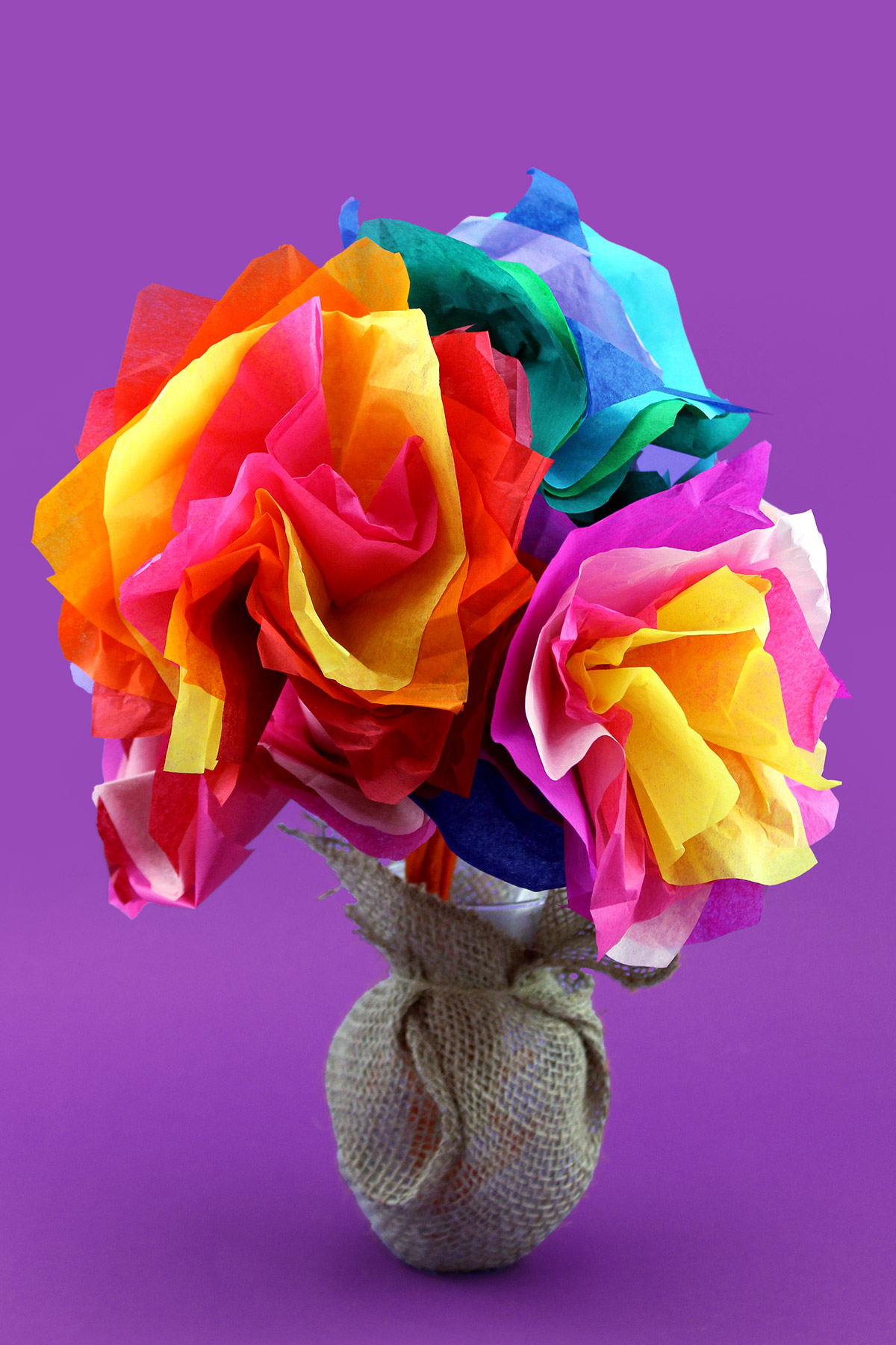 Dora Mother's Day Tissue Paper Flower Craft