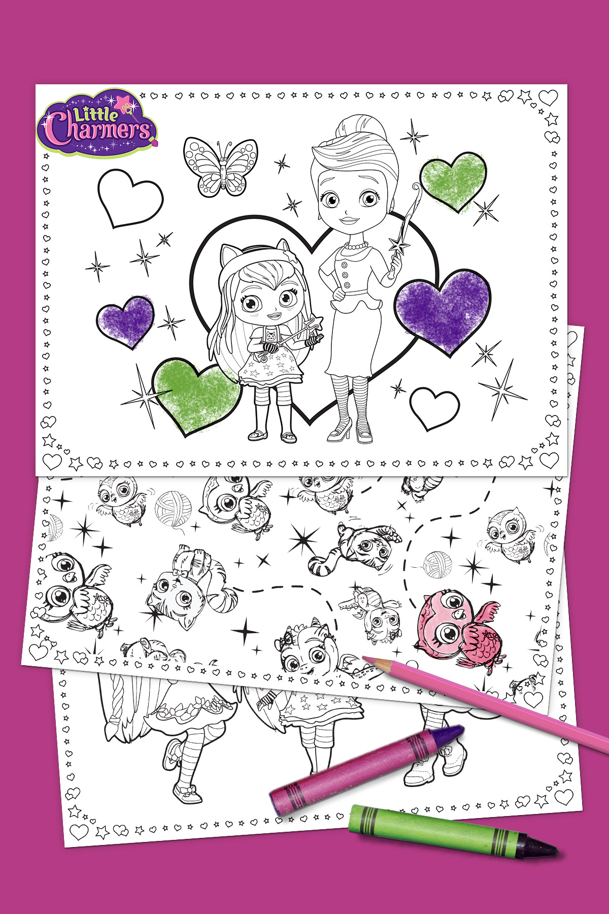 Little Charmers Mother's Day Coloring Pack