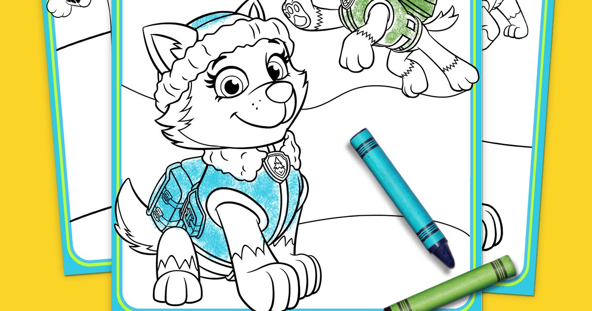 PAW Patrol - Everest Coloring Pack | Nickelodeon Parents