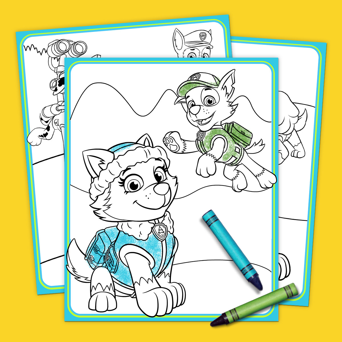 PAW Patrol Everest Coloring Pack
