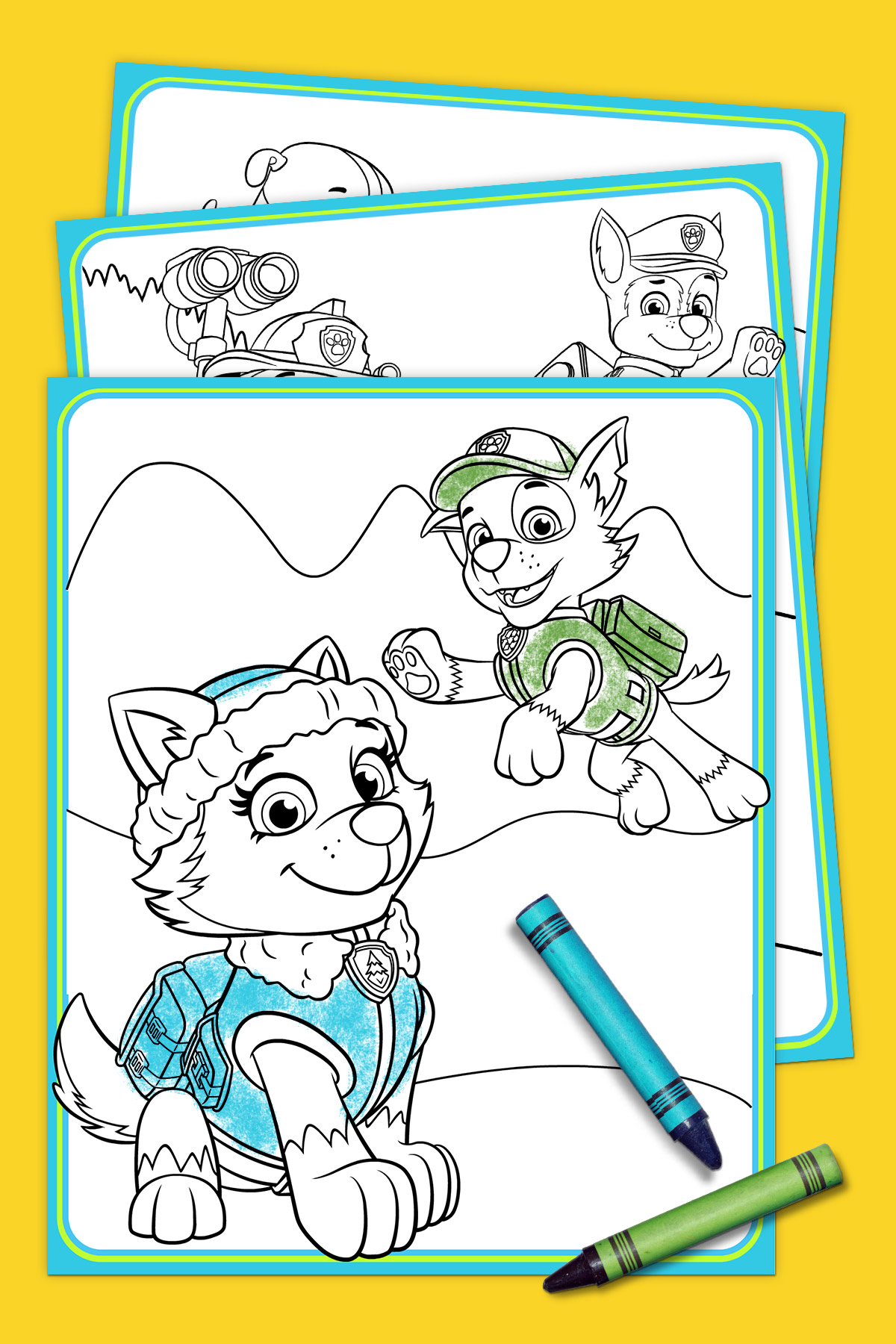 photograph relating to Printable Paw Patrol Coloring Pages titled PAW Patrol - Everest Coloring Pack Nickelodeon Mom and dad