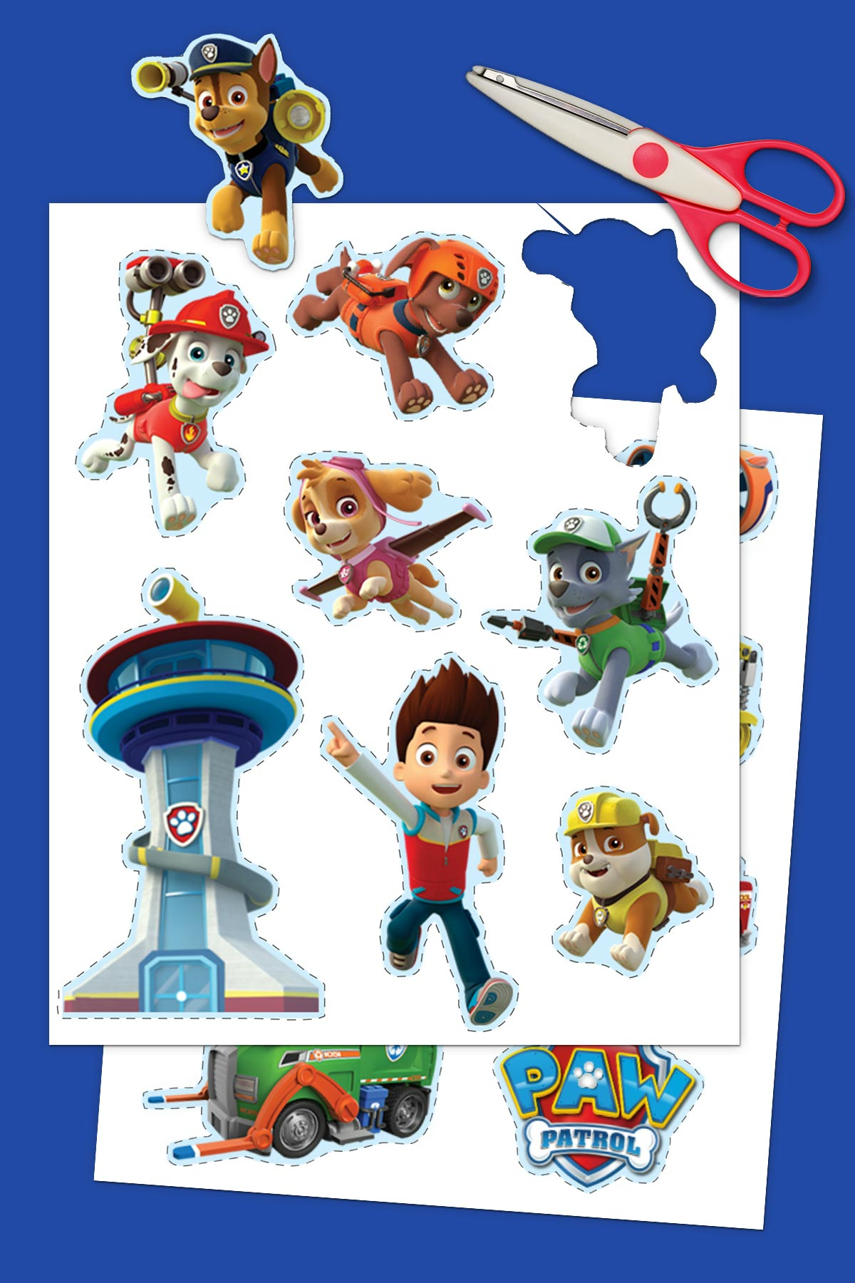 photo about Printable Paw Patrol identified as PAW Patrol Printable Stickers Nickelodeon Mothers and fathers