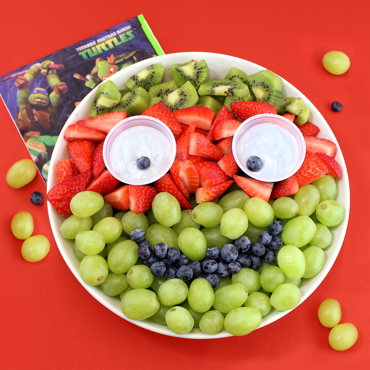 TMNT Fruity Face Fruit Platter Recipe