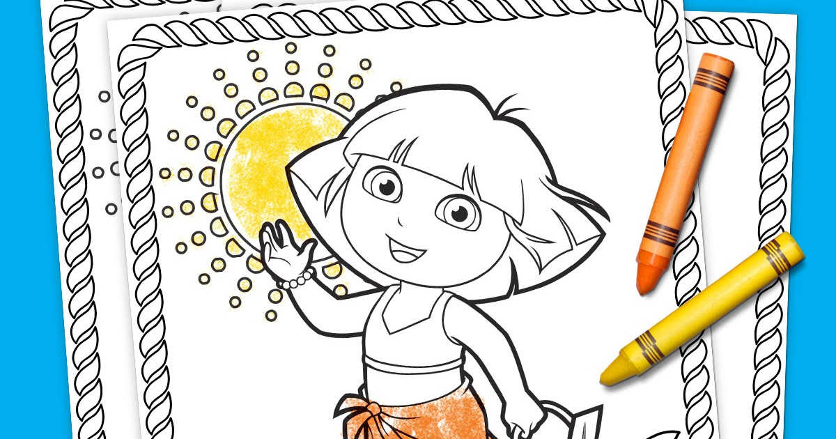 Dora Summertime Coloring Pack