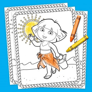 Dora Summertime Coloring