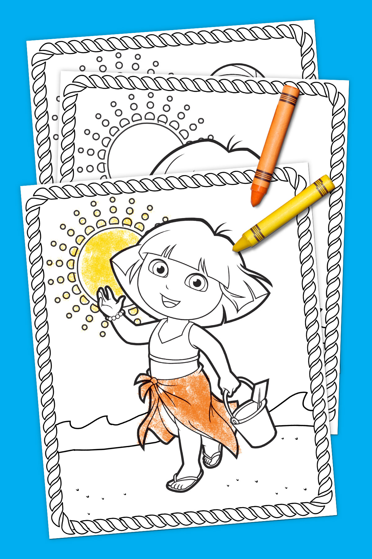 Nick jr summer coloring pages - Savesave To Pinterest Dora Summer Coloring Pack