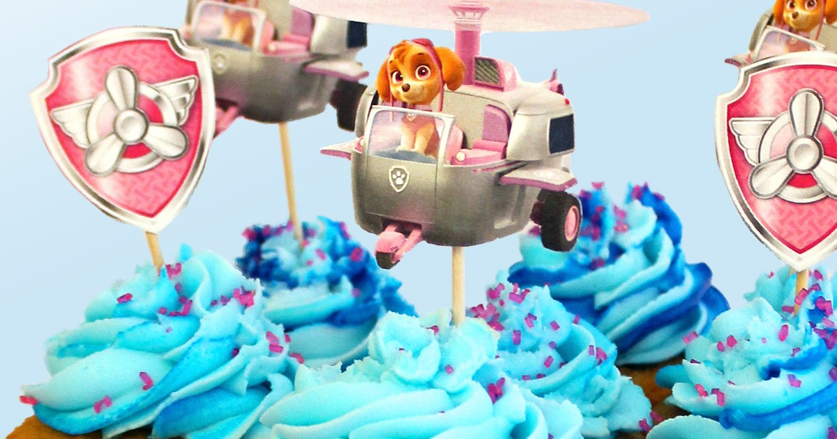 PAW Patrol Skye Cupcakes Toppers