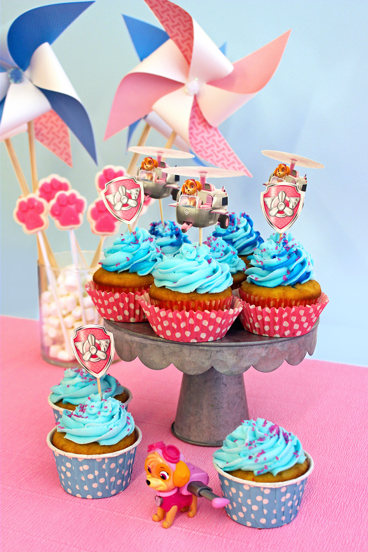PAW Patrol Skye Birthday Party Cupcakes