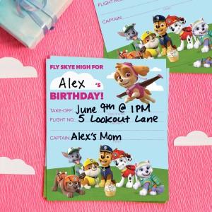 Paw Patrol Skye Birthday Party Invitations Nickelodeon Parents