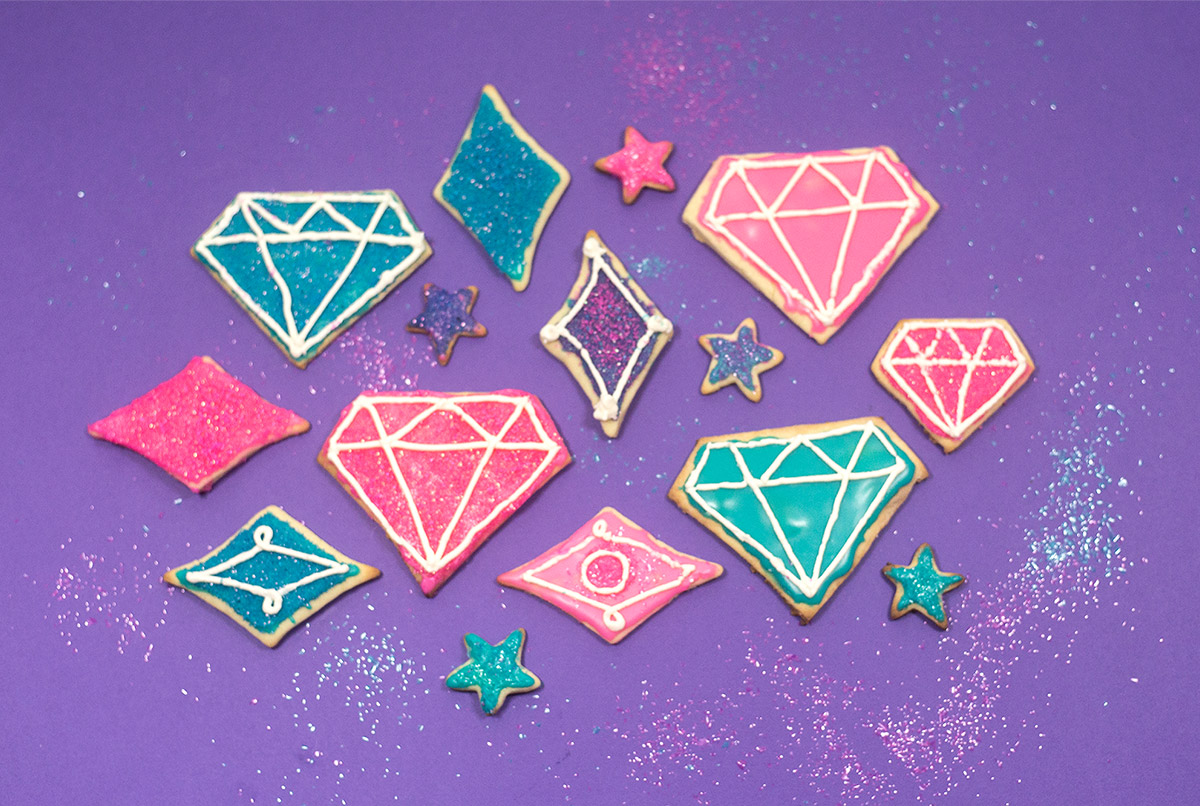 Shimmer and Shine Gem Cookies