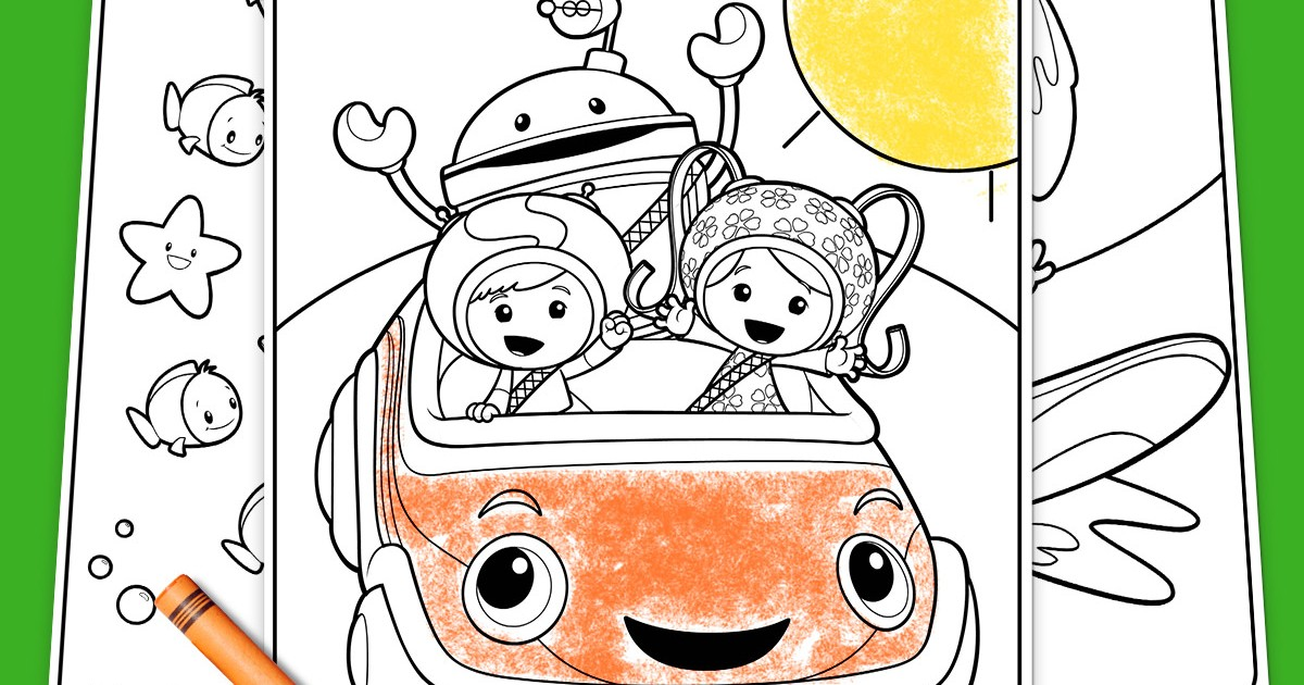 Team Umizoomi Summertime Coloring