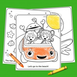 Umizoomi Summer Coloring
