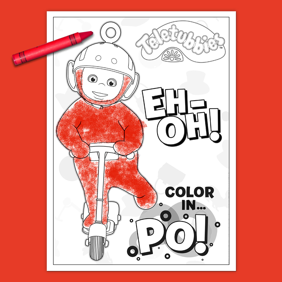 Teletubbies Coloring Page: Po