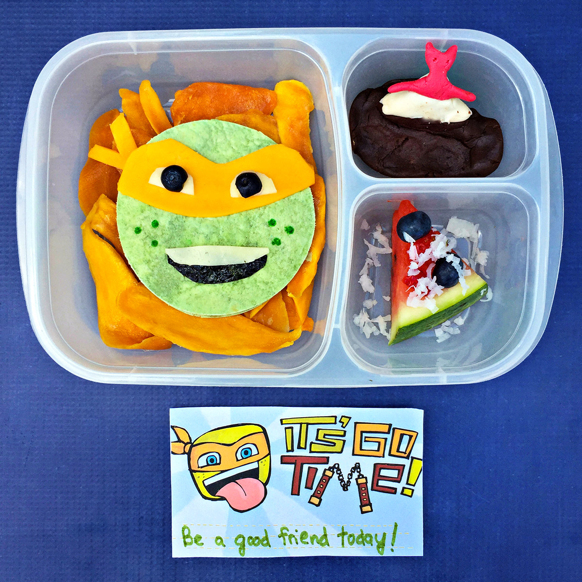 TMNT Michelangelo Lunchbox Recipe
