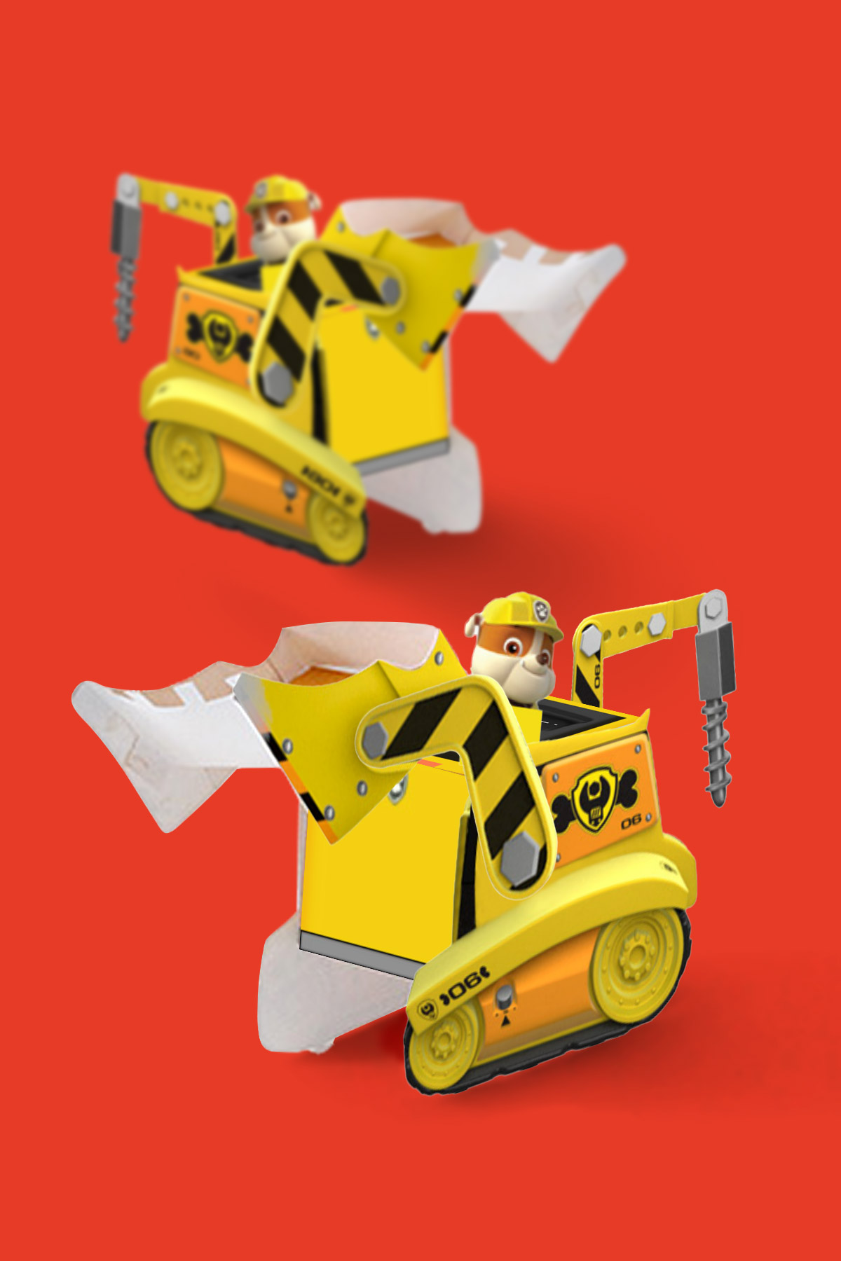 PAW Patrol Rubble Vehicle Toy