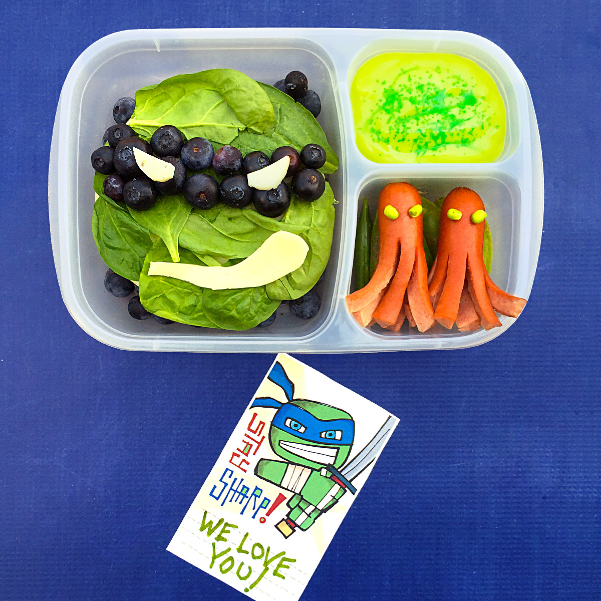 TMNT Bento-style Leonardo Lunch Recipe