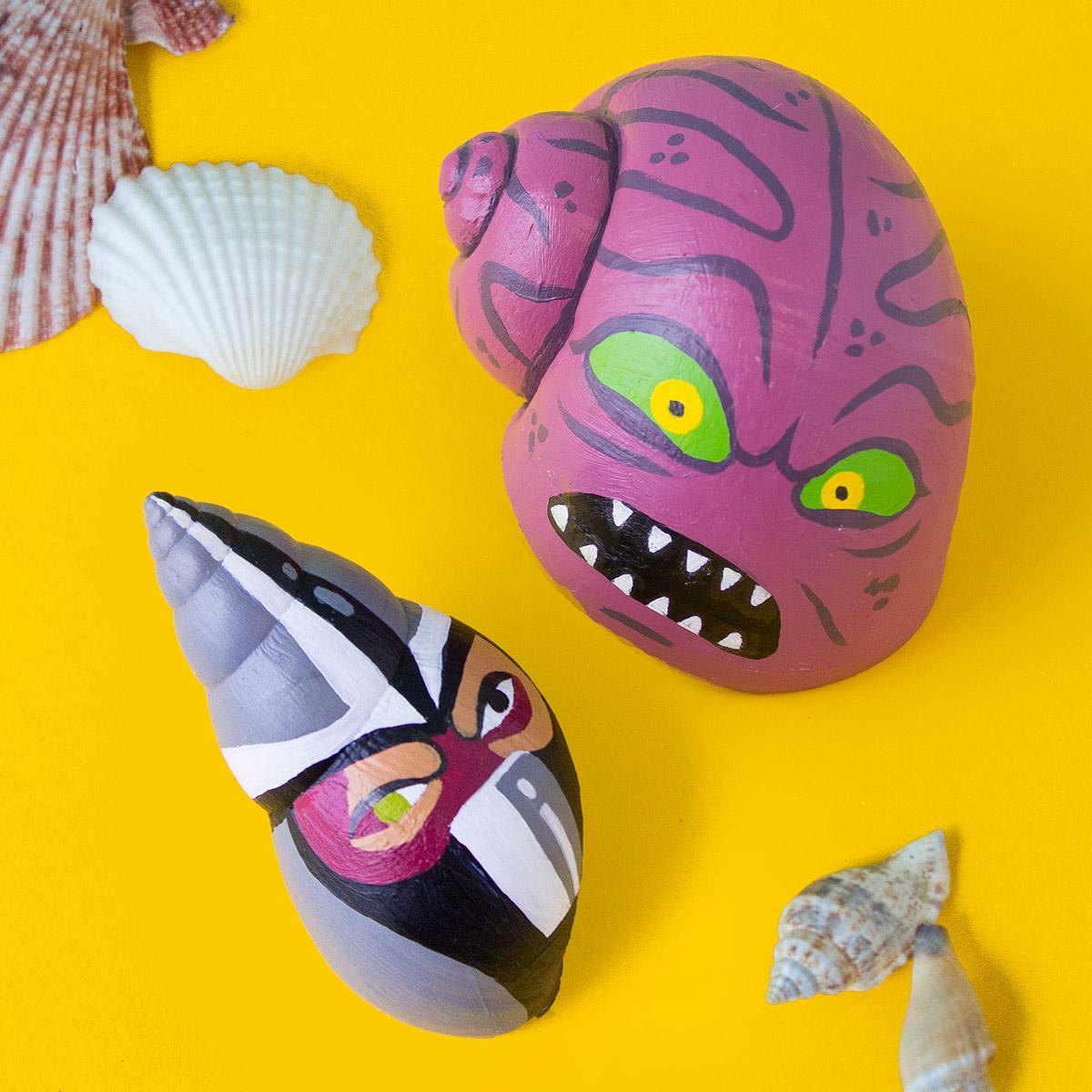 TMNT Painted Shells