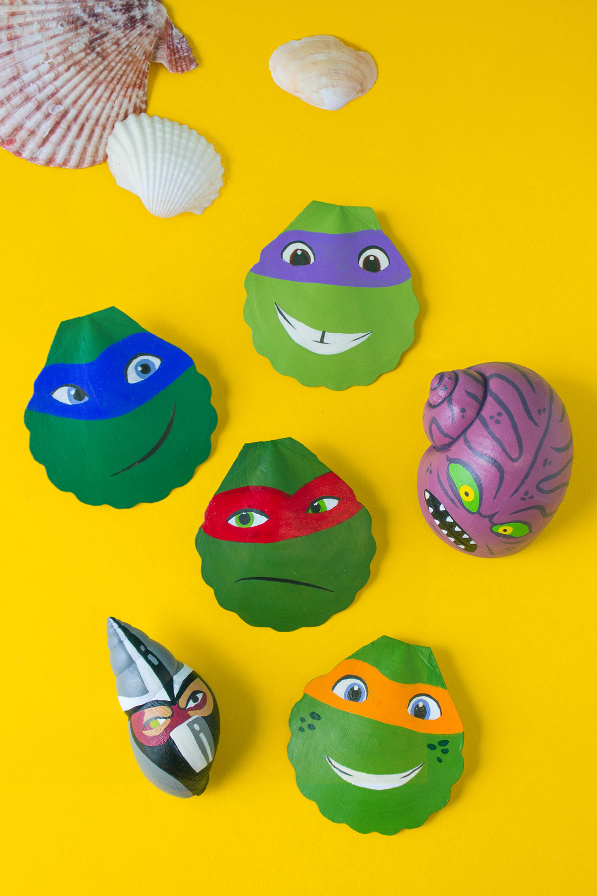 TMNT Painted Shells