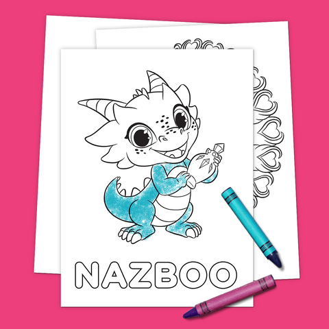 Friends of Zahramay Falls Coloring Pack
