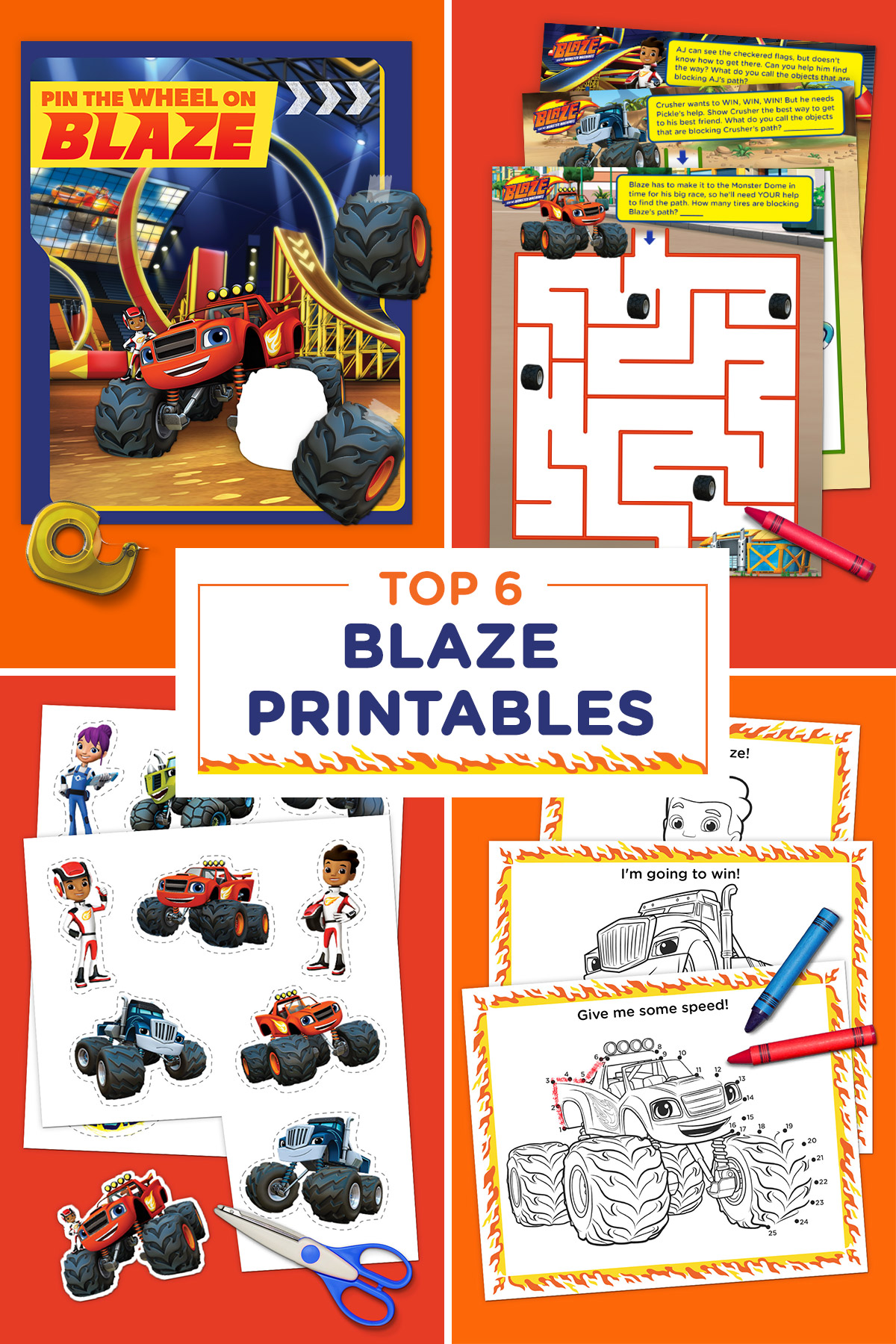 Top 6 Blaze Printables of All Time