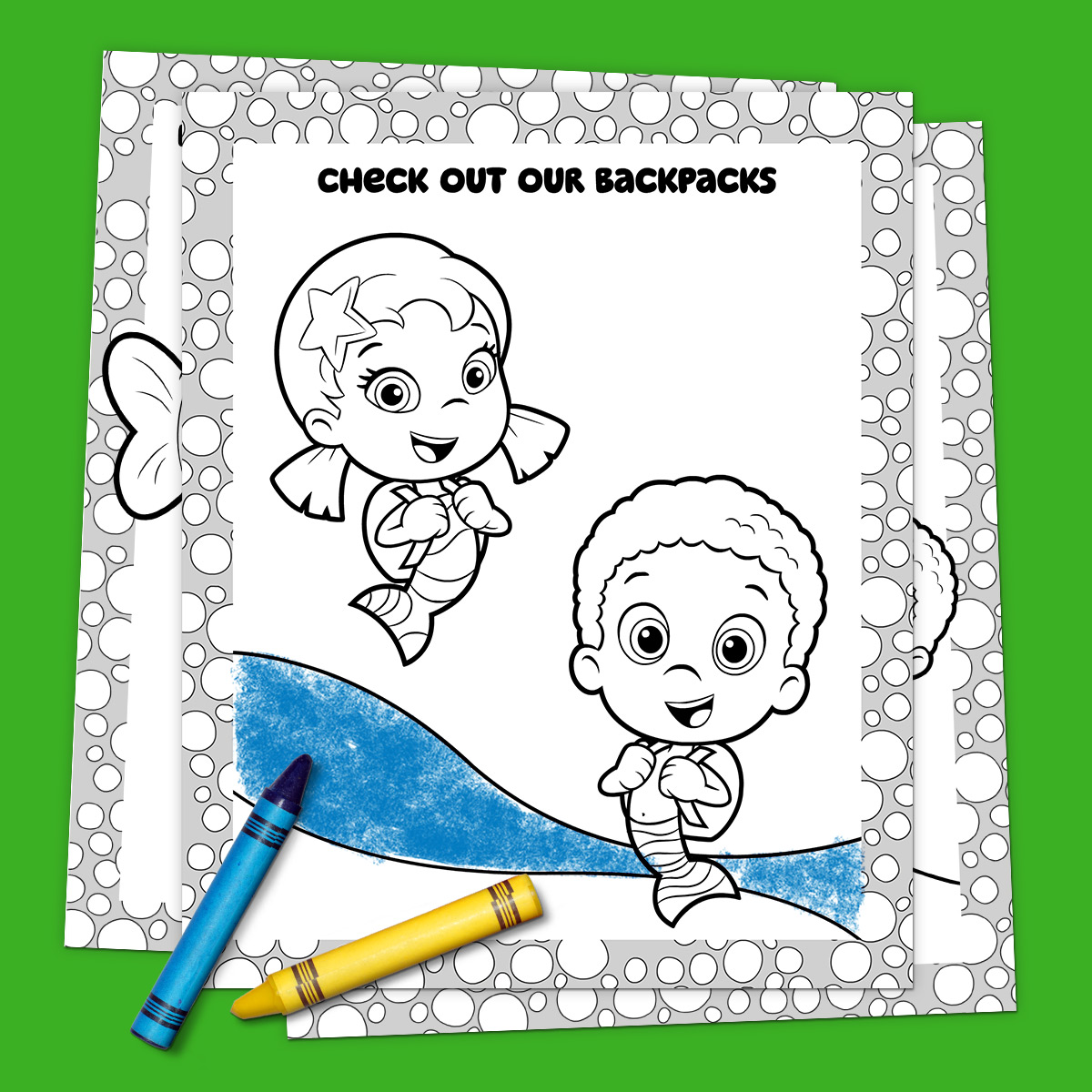 Bubble Guppies Off to School Coloring Pack