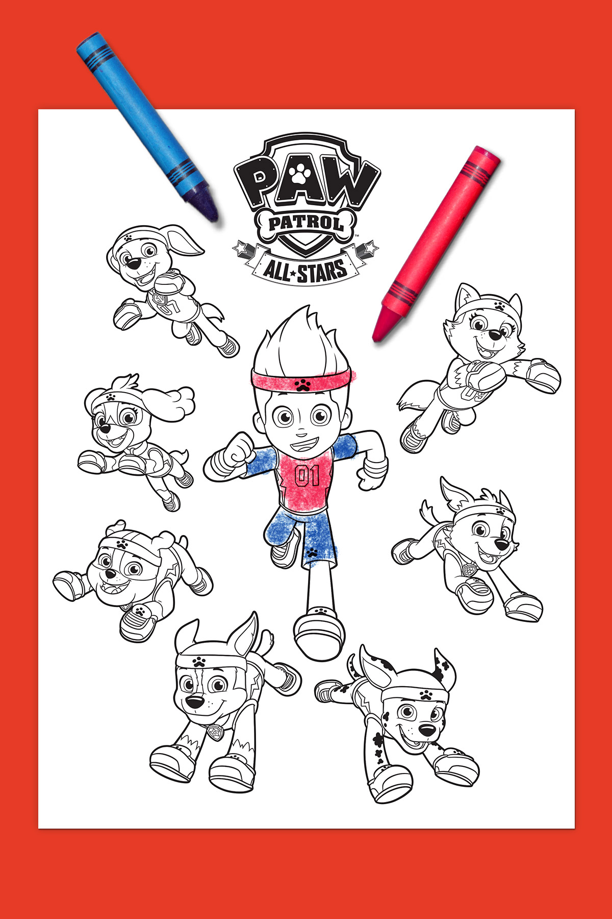 PAW Patrol All-Stars Coloring Page