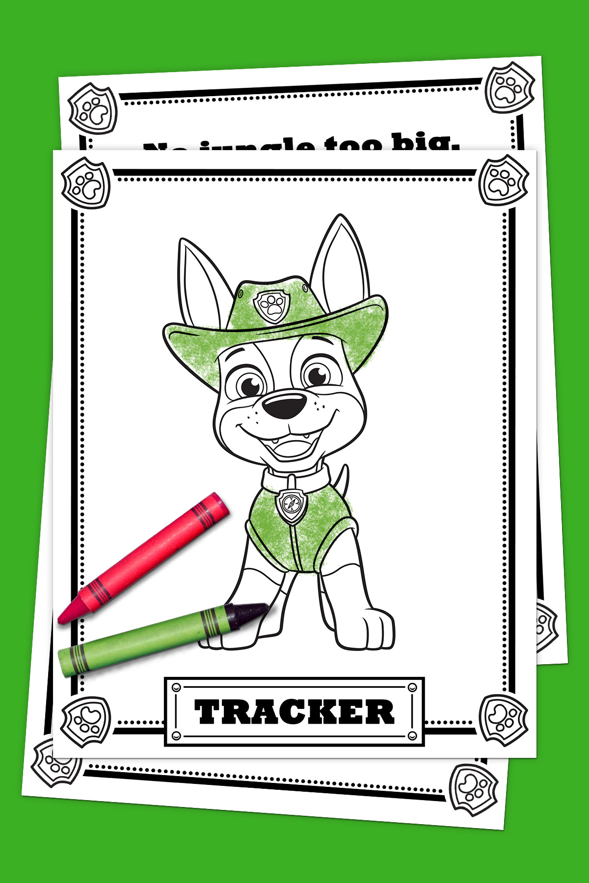 PAW Patrol Tracker Coloring Pack | Nickelodeon Parents