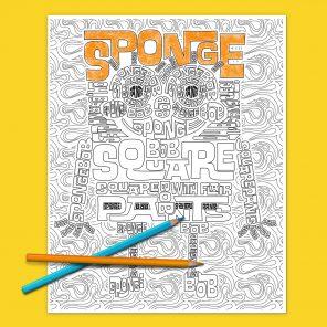 SpongeBob Adult Coloring Page