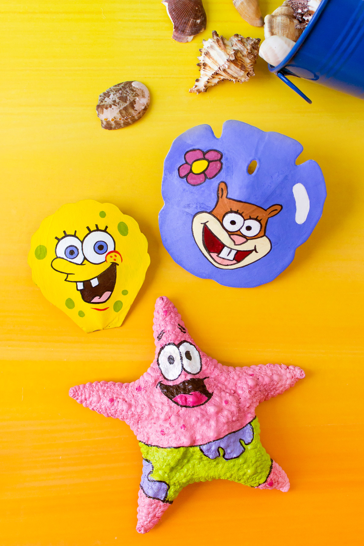 SpongeBob Painted Shells