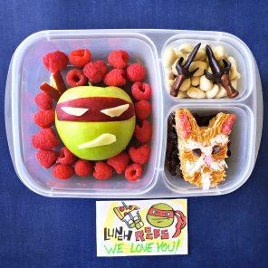 TMNT Bento-style Raphael and Splinter Lunch Recipe