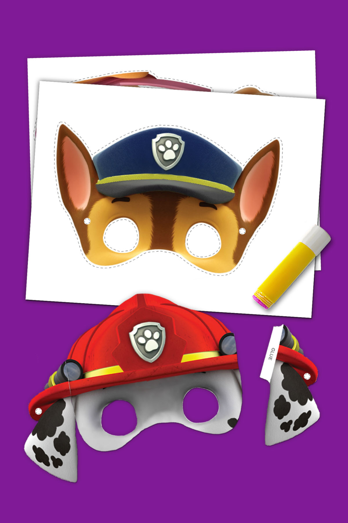 graphic relating to Free Printable Halloween Masks known as 5 PAW Patrol Halloween Printables Nickelodeon Dad and mom