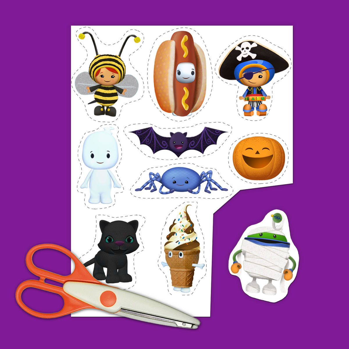 SaveSave to Pinterest Umizoomi Halloween Stickers  sc 1 st  Nickelodeon Parents & 4 Team Umizoomi Halloween Printables | Nickelodeon Parents