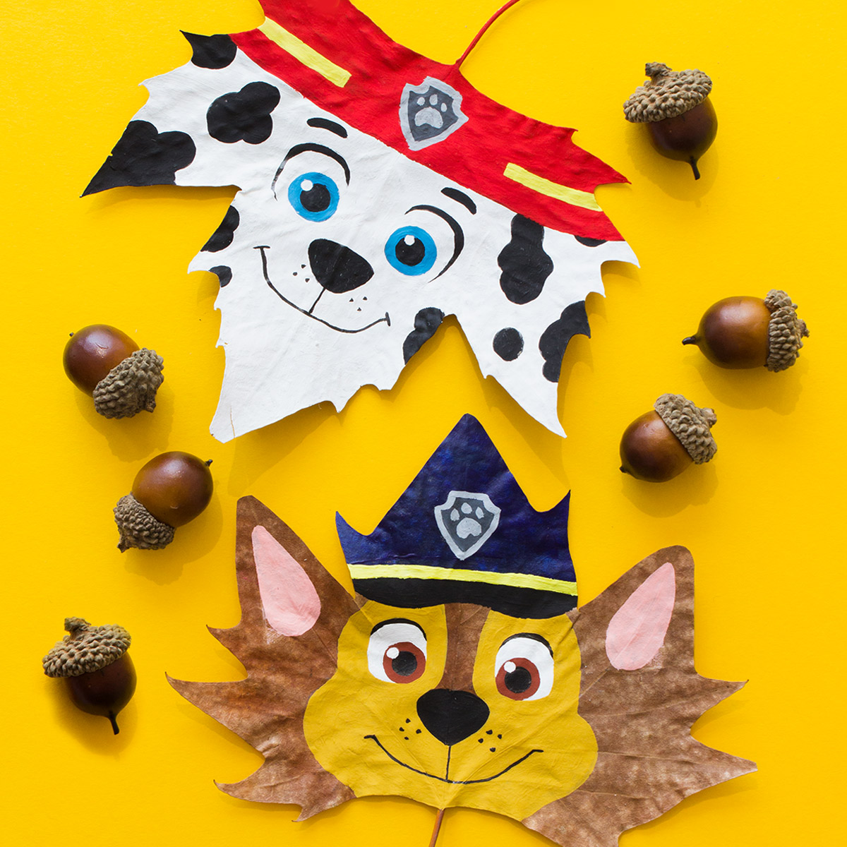 Blaze Pinecone Craft and PAW Patrol Leaves Nickelodeon