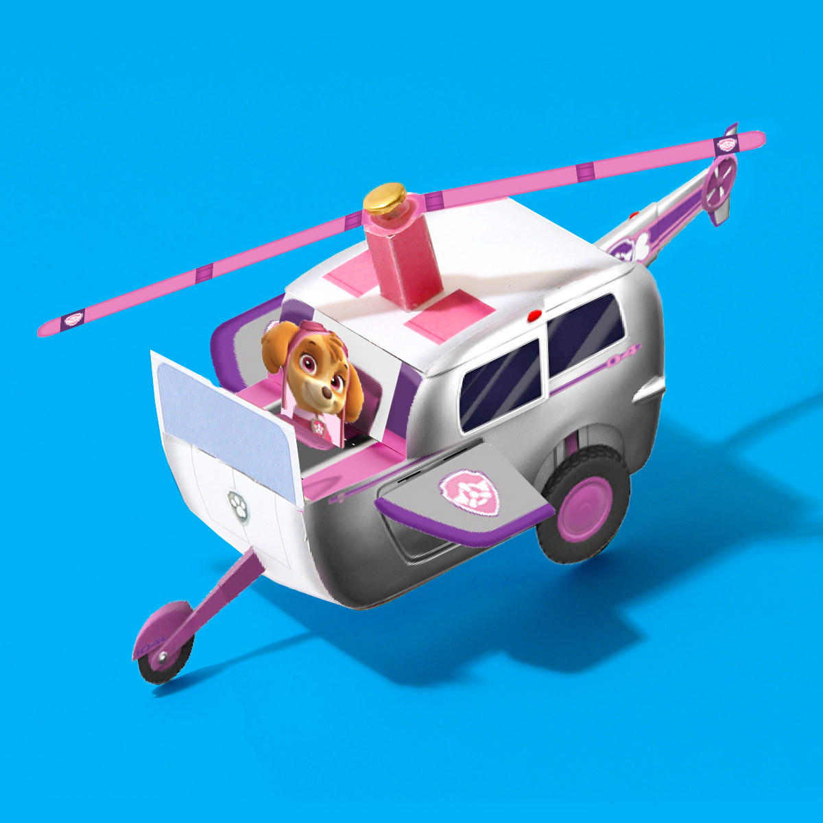 PAW Patrol Skye Vehicle Toy Template