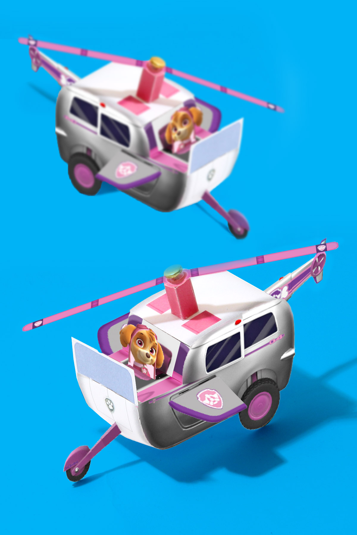 PAW Patrol Skye Vehicle Toy Template