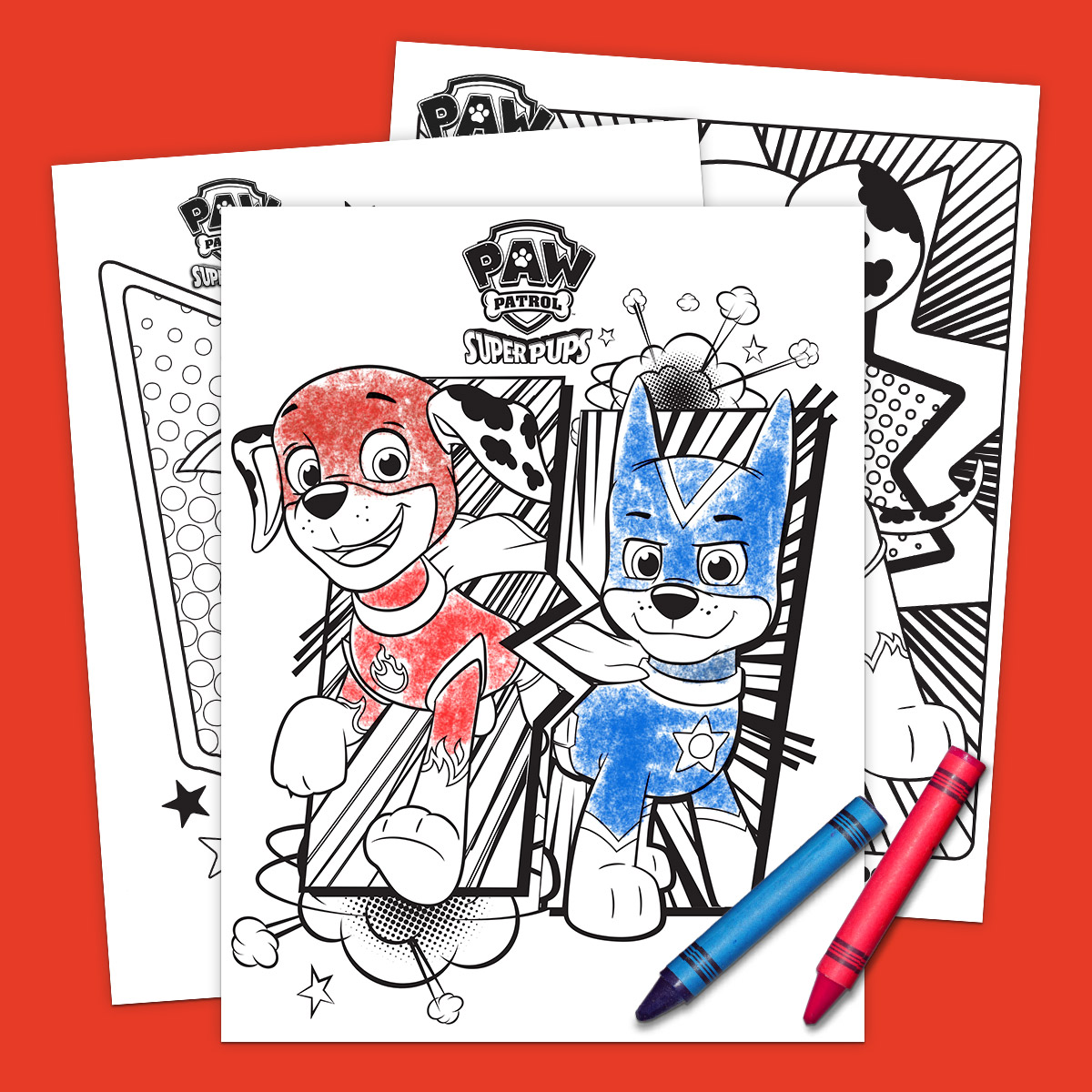 PAW Patrol Super Pups Coloring Pack