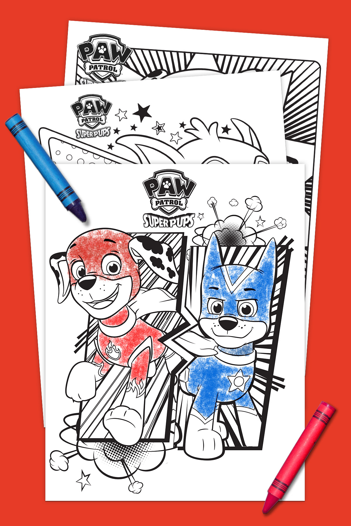 Paw Patrol Mighty Pups Coloring Pages Printable