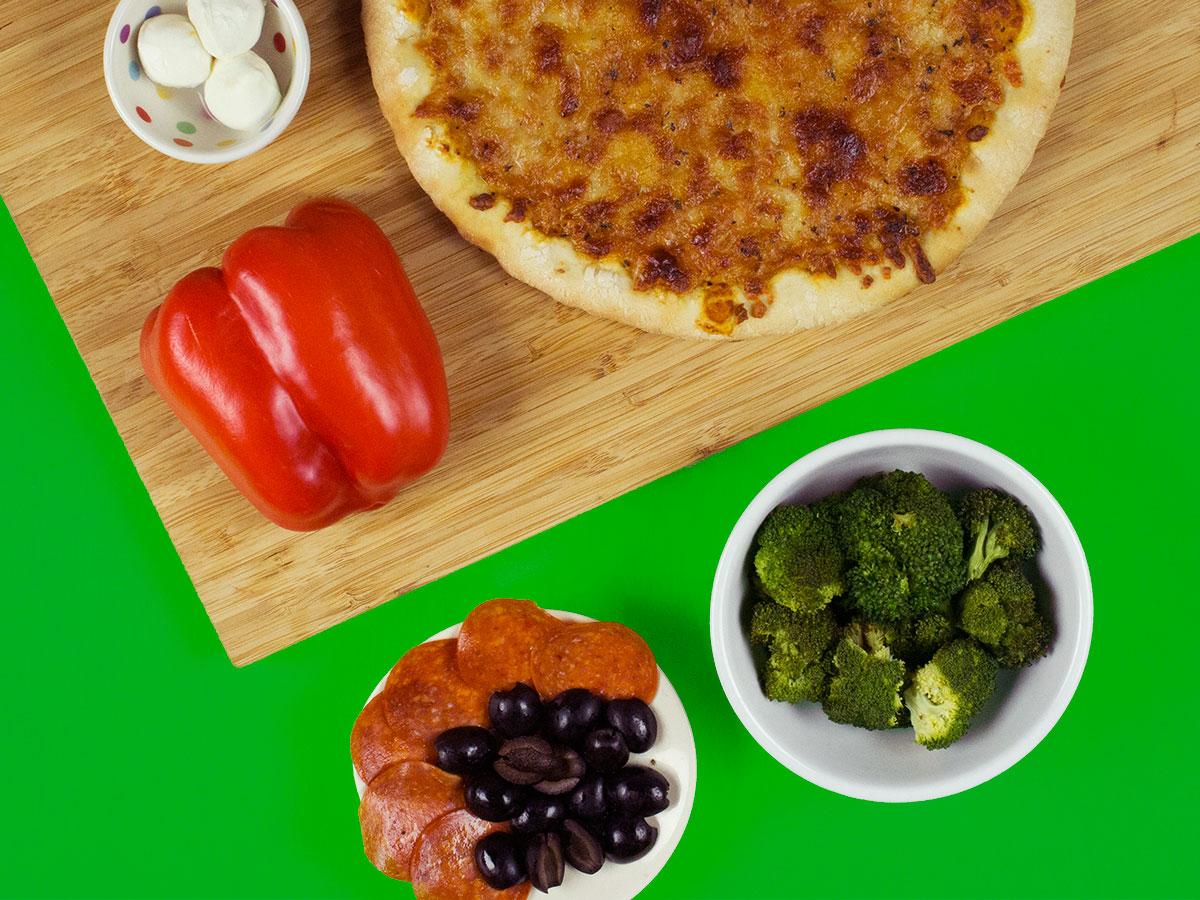 TMNT Raphael Veggie Pizza