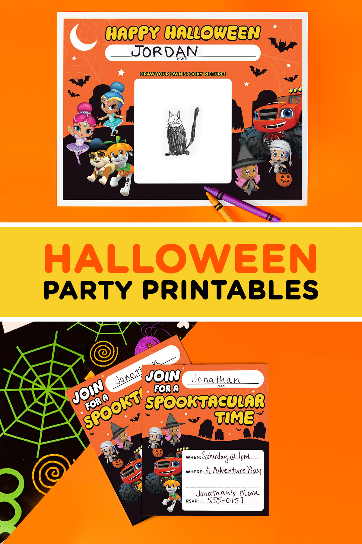 Nick Jr. Halloween Party Printables