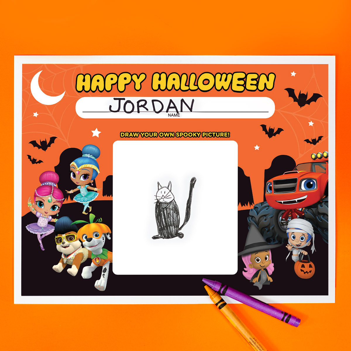 Nick Jr. Halloween Party Placemats