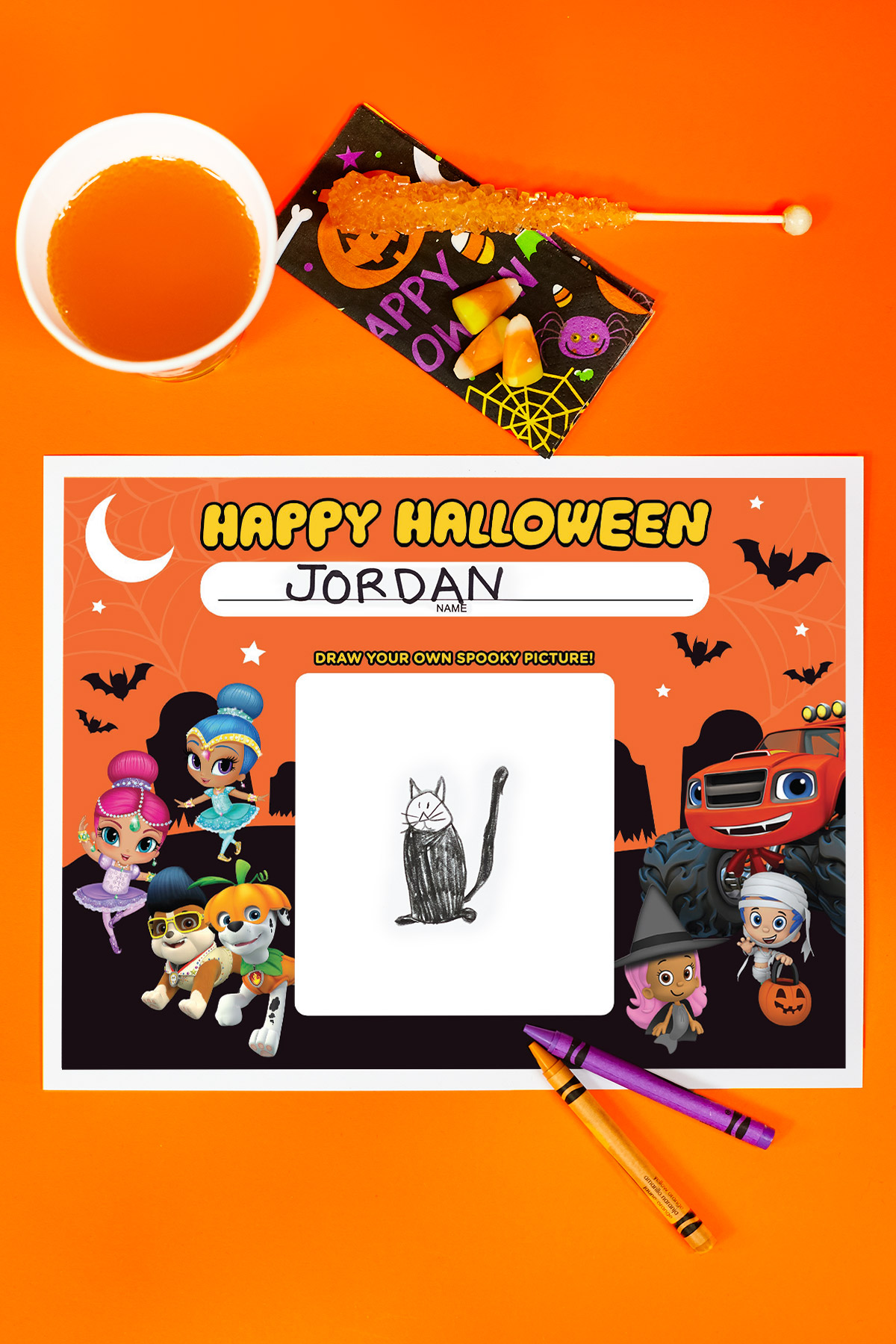 SaveSave to Pinterest Nick Jr. Halloween Party Placemats - Nick Jr. Halloween Party Placemats Nickelodeon Parents