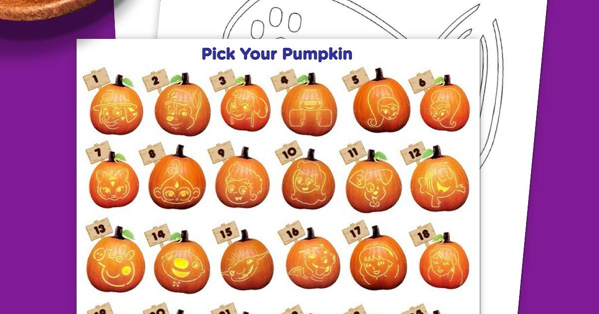 Halloween Pumpkin Stencils Nickelodeon