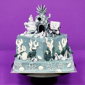 Spooky SpongeBob Cake