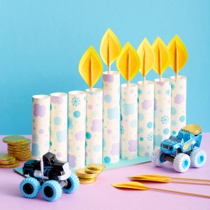Nick Jr. Menorah Craft