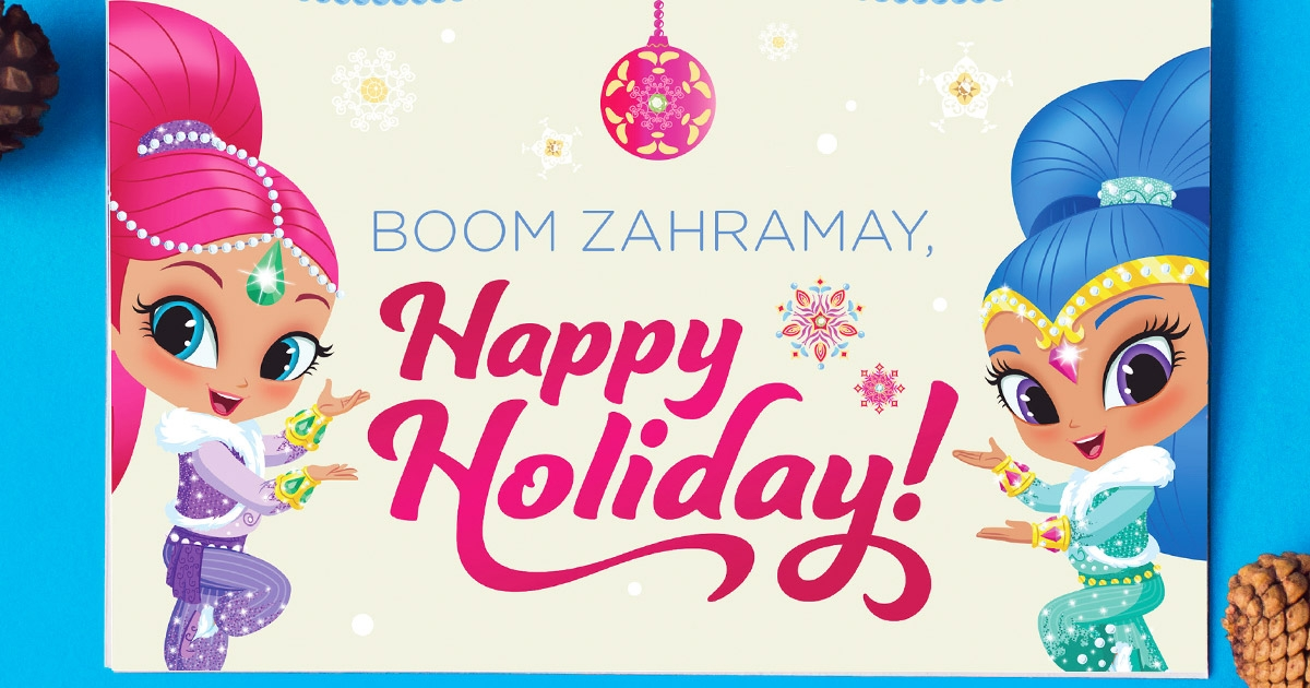Shimmer amp Shine Holiday Card