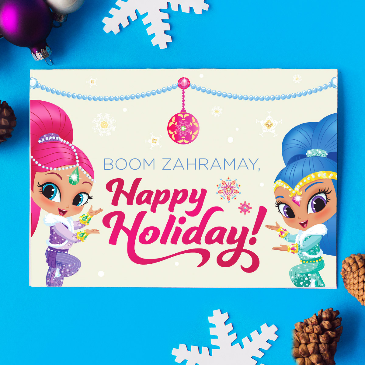Shimmer and Shine Holiday Card